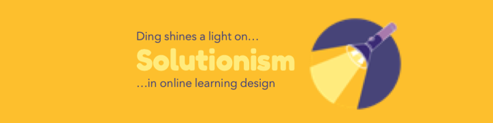 Why a solutionist approach doesn't work for online learning